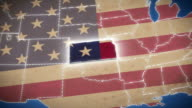 USA map, Kansas pull out, all states available video