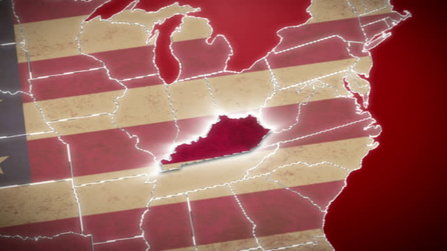 USA map, Kentucky pull out, all states available. Red video