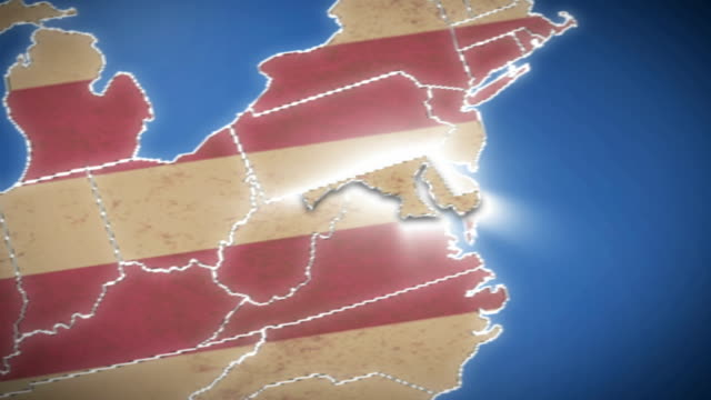 USA map, Maryland pull out, all states available video