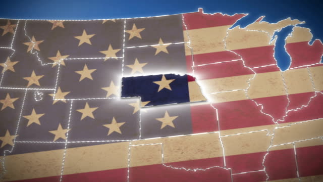 USA map, Nebraska pull out, all states available video