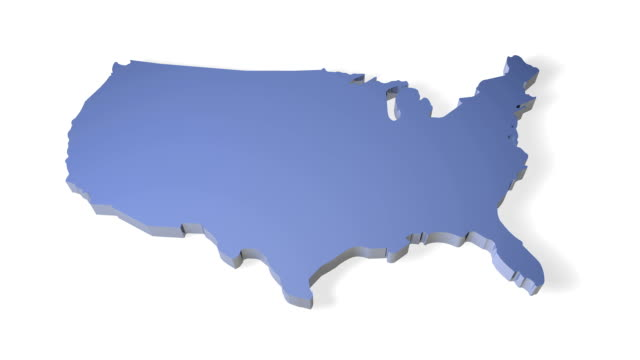 3D- Map of USA video