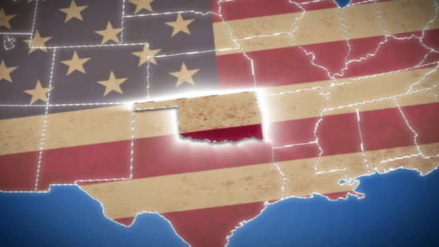 USA map, Oklahoma pull out, all states available video