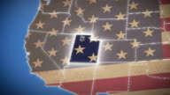 USA map, Utah pull out, all states available video