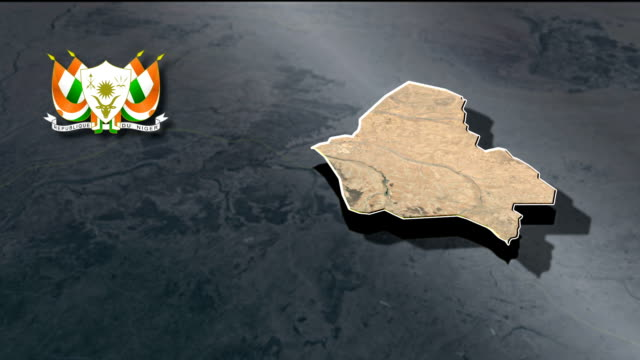 Maradi with Coat Of Arms Animation Map video