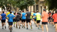 Marathon Runners At City Race video