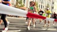 Marathon running video