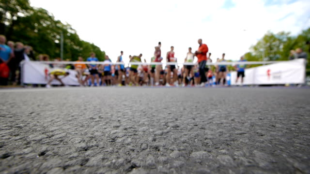 HD - Marathon. Starting line video