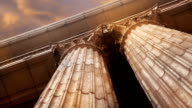Marble Columns Closeup video