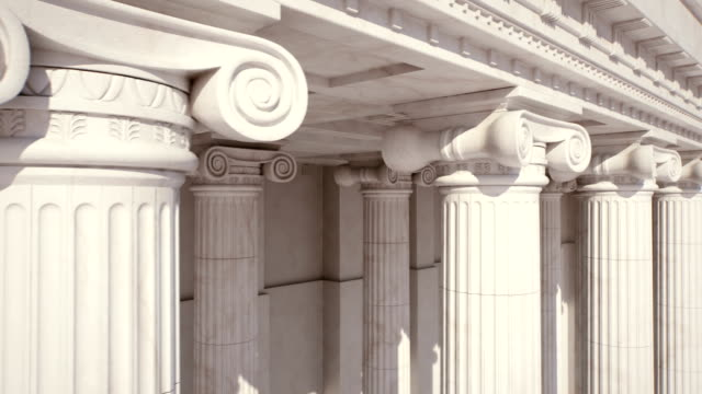 Marble Columns. Loopable video