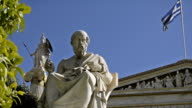 Marble statue of the great ancient Greek scholar video