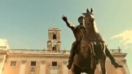 Marco Aurelio Equestrian Statue in Rome video