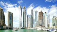DUBAI Marina Timelapse Skyline video