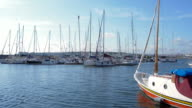 Marina view on sunny day in Istanbul I video