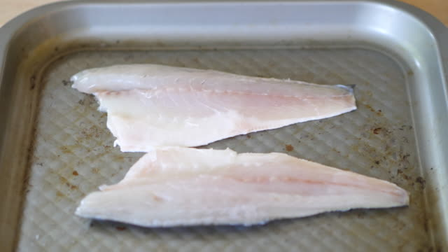marinate seabass fish fillet video