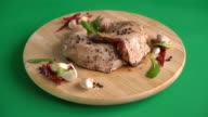 marinated chicken thigh with sauce, black peppers video