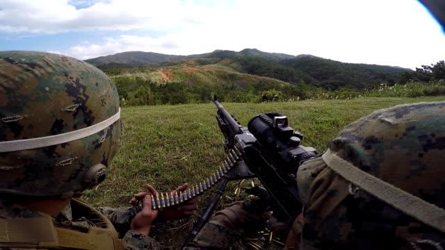 Marine Firing Machine Gun video