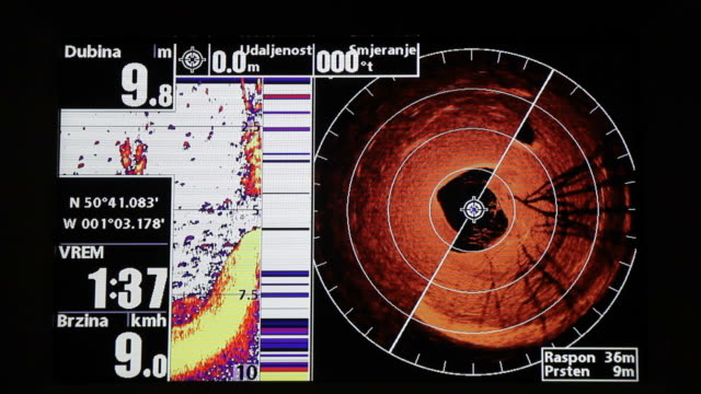 Marine GPS and sonar video