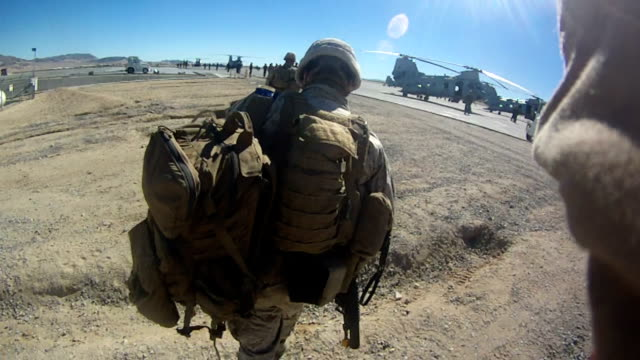 Marine Troops In Action video