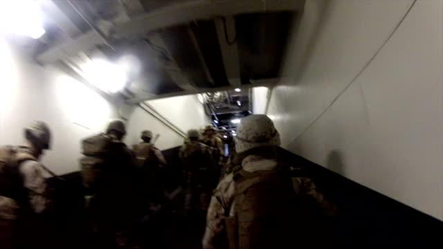 Marines In Navy Ship video