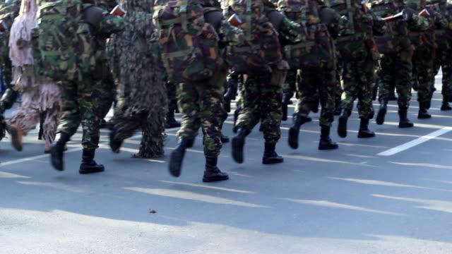 Marines Platoon Marching video