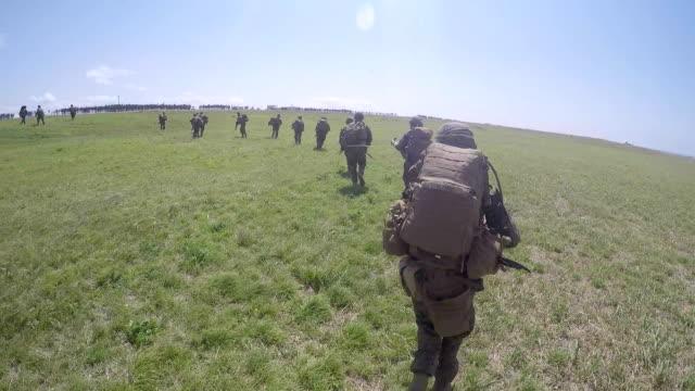 Marines Securing Field video