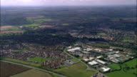 Market Harborough  - Aerial View - England, Leicestershire, Harborough District, United Kingdom video