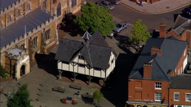 Market Harborough  - Aerial View - England, Leicestershire, Harborough District, United Kingdom video