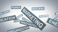 Marketing words background video