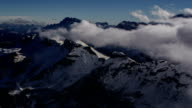 Marmolada Peak, Dolomite Alps clouds and fog rolling in video