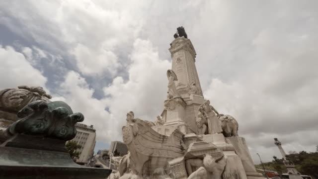Marquês de Pombal Square in Lisbon video