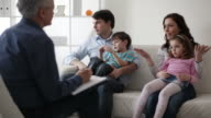 Marriage Therapy. Couple Talking to Counselor video