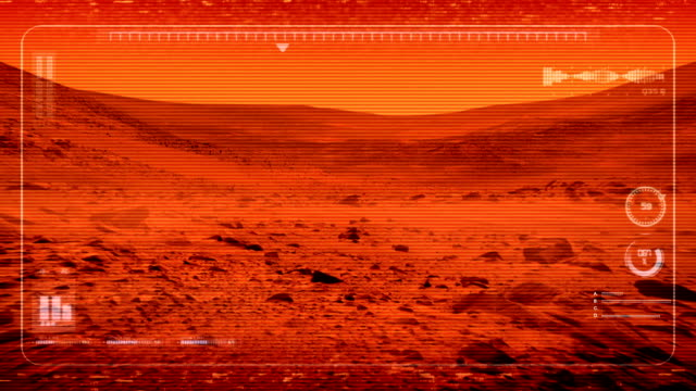 Mars Rover POV On Planet Surface video