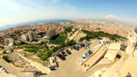 Marseille Cityscape Time Lapse Fisheye video