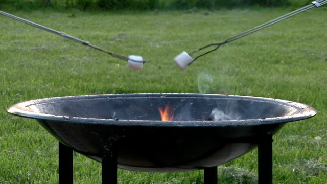 Marshmallows Over Firepit video