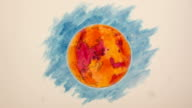 Martian Planetoid Stop Motion Creation, Blue Background video