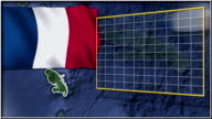 Martinique flag and map animation video