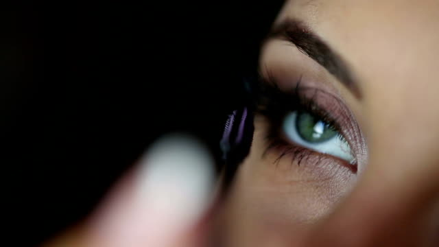 Mascara Applying Make Up of a woman video