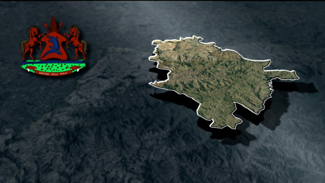Maseru with Coat Of Arms Animation Map video