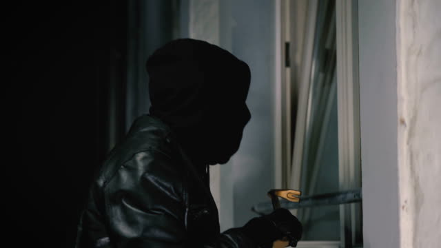 masked burglars breaking is a house video