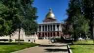 Massachusetts State House in Boston Establishing Shot video