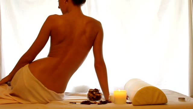 Massage concept close up video