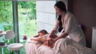 masseur makes massage girl video