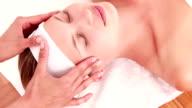 Masseuse massaging her client head video