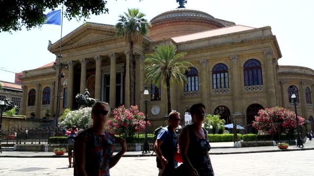 Massimo theatre Palermo Sicily video