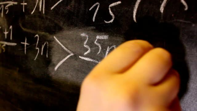 Math equation on the blackboard video