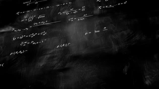 math physics formulas on chalkboard tilting loop video