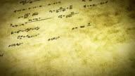 math physics formulas on old paper tilting loop video