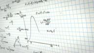math physics formulas on squared paper panning loop video