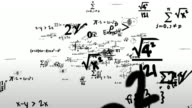 Math Symbols Journey Flying Through Camera video