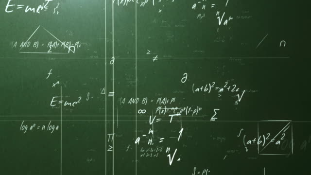 Mathematical formulas (green) video